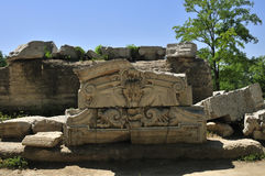 Ruins of the Yuanmingyuan in Beijing. Xieqiqu Site is the part of the Xiyanglou,European Palaces in the old-summer palace stock images
