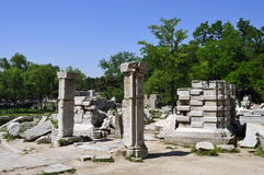 Ruins of the Yuanmingyuan in Beijing. Xieqiqu Site is the part of the Xiyanglou,European Palaces in the old-summer palace royalty free stock photo
