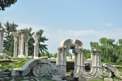 Ruins of Yuanmingyuan Royalty Free Stock Photos