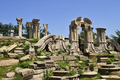 Ruins of the Yuanmingyuan in China. Haiyantang Site is the part of the Xiyanglou,European Palaces in the old-summer palace stock photo
