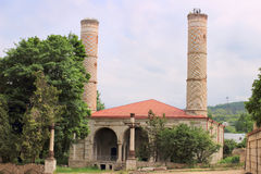 The ruins of Yukhari Govhar Agha Mosque in Shusha city Stock Image