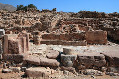Ruins of Zakros Palace, Crete Stock Photos
