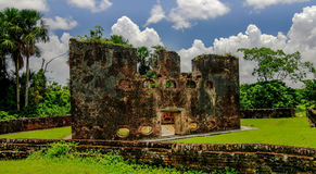 Ruins of Zeeland fort on island in Essequibo delta Guyana. Ruins of zeeland fort on the island in Essequibo delta, Guyana Stock Photo