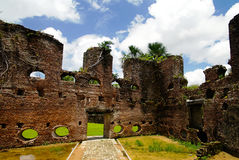 Ruins of Zeeland fort on the island in Essequibo delta, Guyana. Ruins of Zeeland fort on the island in Essequibo delta in Guyana Royalty Free Stock Photo
