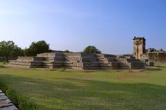 Ruins of Zenana Enclosure, Hampi Monuments, Karnataka Royalty Free Stock Photo