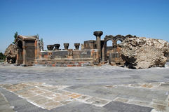 The ruins of Zvarnots cathedral, Armenia Royalty Free Stock Photos