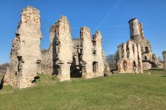 Ruins of Zviretice castle Royalty Free Stock Images