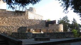Ruiny: ściany i kasztele Obrazy Royalty Free