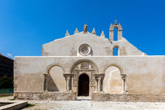 Ruiny średniowieczny Anglonormański kościół San Giovanni Obraz Royalty Free