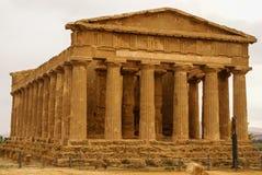 Ruiny świątynia Concordia, Valey świątynie, Agrigento, S Obraz Royalty Free