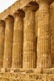 Ruiny świątynia Concordia, Valey świątynie, Agrigento, S Obrazy Stock