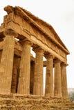 Ruiny świątynia Concordia, Valey świątynie, Agrigento, S Fotografia Stock