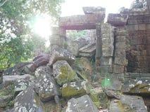 Ruiny świątynia przy Angkor Wat kompleksem, Siem Przeprowadzają żniwa, Kambodża Obraz Royalty Free