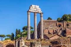 Ruiny świątynia Rycynowy i Pollux obrazy royalty free