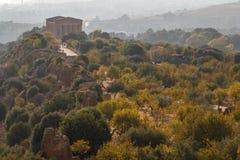 Ruiny świątynie w antycznym mieście Agrigento Obrazy Stock