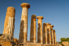 Ruiny świątynie w antycznym mieście Agrigento Obrazy Royalty Free