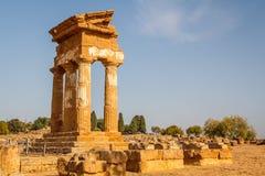 Ruiny świątynie w antycznym mieście Agrigento, Sicily Obraz Royalty Free