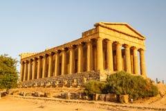 Ruiny świątynie w antycznym mieście Agrigento, Sicily Zdjęcia Royalty Free