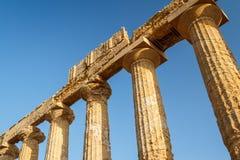 Ruiny świątynie w antycznym mieście Agrigento, Sicily Obraz Stock