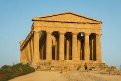 Ruiny świątynie w antycznym mieście Agrigento, Sicily Zdjęcia Stock