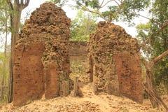 Ruiny świątynie w Siem Przeprowadzają żniwa w Kambodża Obraz Stock