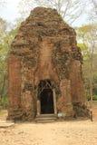 Ruiny świątynie w Siem Przeprowadzają żniwa w Kambodża Zdjęcia Royalty Free