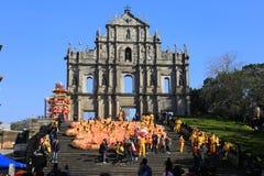 Ruiny świętego Paul katedra, Macau Fotografia Royalty Free