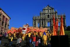 Ruiny świętego Paul katedra, Macau Obrazy Royalty Free