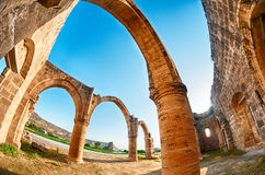 Ruiny ażio Sozomenos obraz royalty free