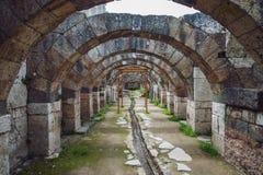 Ruiny agora, archeologiczny miejsce w Izmir, Turcja Obrazy Stock