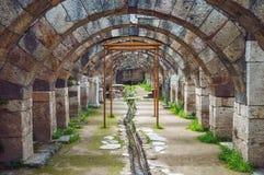 Ruiny agora, archeologiczny miejsce w Izmir, Turcja Fotografia Royalty Free