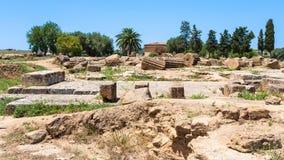 Ruiny ancent grecka świątynia w Agrigento, Sicily Zdjęcie Stock