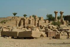 Ruiny Antyczna świątynia w Luxor, bez ludzi, Thebes, UNESCO światowego dziedzictwa miejsce, Egipt, afryka pólnocna Obraz Royalty Free