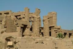 Ruiny Antyczna świątynia w Luxor, bez ludzi, Thebes, UNESCO światowego dziedzictwa miejsce, Egipt, afryka pólnocna Obrazy Stock