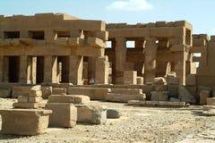 Ruiny Antyczna świątynia w Luxor, bez ludzi, Thebes, UNESCO światowego dziedzictwa miejsce, Egipt, afryka pólnocna Obraz Stock