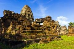 Ruiny antyczna świątynia w Siem Przeprowadza żniwa obrazy stock