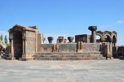 Ruiny antyczna świątynia Zvartnots, Armenia Zdjęcia Stock