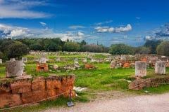 Ruiny Antyczna agora Fotografia Royalty Free