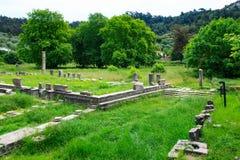 Ruiny antyczna agora w Thassos, Limenas, Grecja Obraz Royalty Free