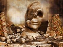 Ruiny antyczna statua Zdjęcia Stock