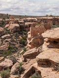 Ruiny antyczne osady w pustynnym jarze Obraz Royalty Free