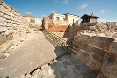 Ruiny antycznego miasteczka ramparts. Nessebar. Bułgaria Zdjęcie Stock