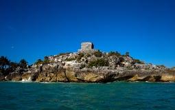 Ruiny Antyczni majscy miasta Tulum, Jukatan obrazy stock