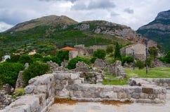 Ruiny antyczny forteca w Starym barze, Montenegro Zdjęcia Stock