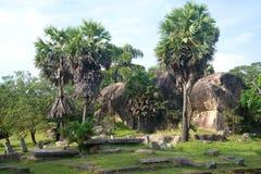 Ruiny antyczny Królewski parkowy Ranmasu Uyana w Anuradhapura Obraz Stock