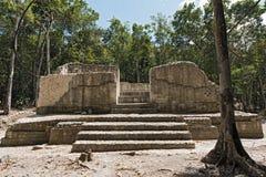 Ruiny antyczny majski miasto hormiguero, Campeche, Meksyk Obrazy Royalty Free