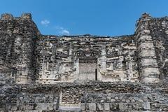 Ruiny antyczny majski miasto hormiguero, Campeche, Meksyk Zdjęcie Royalty Free