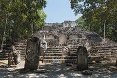 Ruiny antyczny majski miasto hormiguero, Campeche, Meksyk Obrazy Stock