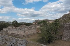 Ruiny antyczny Majski miasto Kabah, Jukatan, Meksyk obrazy royalty free