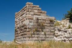 Ruiny antyczny miasteczko Halicarnassus teraz Bodrum zdjęcie stock